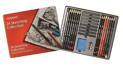 Derwent Sketching Collection 24 Tin - New Sealed - Free Post