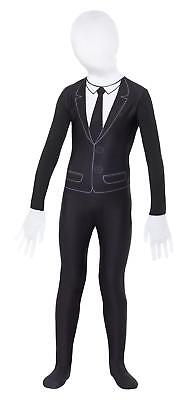 Kids Slenderman Costume Childrens Halloween Supernatural Boy Fancy Dress Outfit