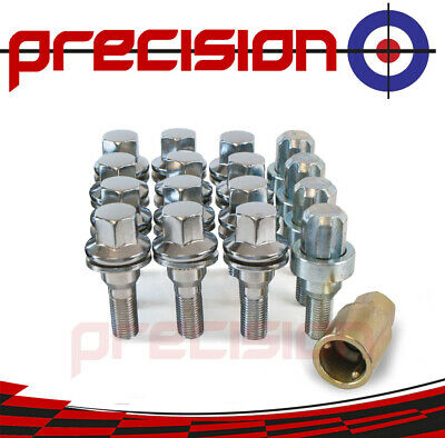4 x ALLOY WHEEL LOCKING BOLTS FOR PEUGEOT 207 OE STYLE M12X1.25 FLAT WASHER 87