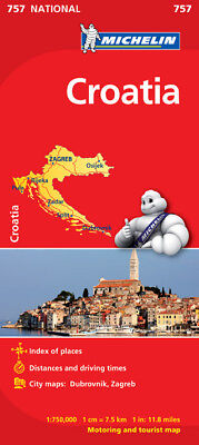 Croatia National Map 757 by Michelin (Sheet map, folded, Road Map)