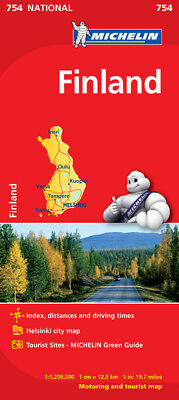 Finland National Map 754 by Michelin (Sheet map, folded, Road Map)