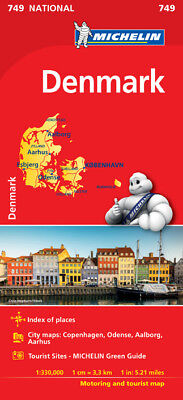 Denmark National Map 749 by Michelin (Sheet map, folded, 2017, Road Map)