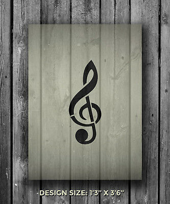 A5 Music Note Mylar Reusable Stencil Airbrush Painting Art Craft DIY Home Decor
