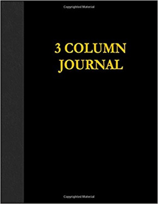 Best 3 Columns Account Book 8.5 X 11 Inch Black 100 Pages Ledger Record Keeping
