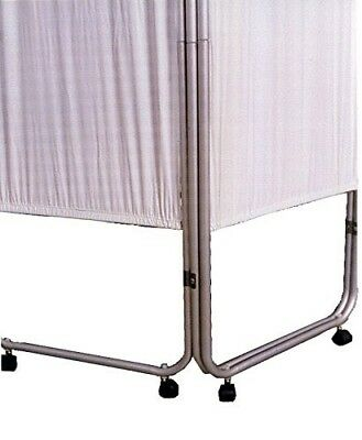 3 Panel Feather Lite Medical Folding Privacy Screen WITH CASTERS by Presco Webbe