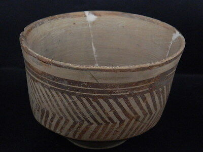 Ancient Large Size Teracotta Painted Pot Indus Valley 2500 BC No Reserv #PT15420