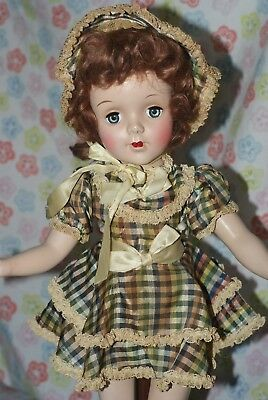 "BEAUTIFUL!! Vintage Early 17"" Sweet Sue Hard Plastic Doll All Original"