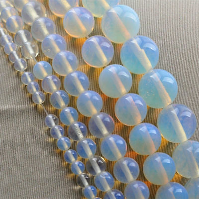 4m-14mm Clear Round Natural Gemstone Stone Spacer Loose Beads DIY Jewelry Making