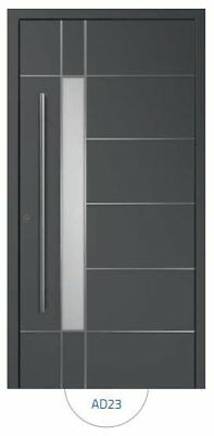 Front External Aluminium Door Aluprof MB86 Model AD23 /Made to Measure/