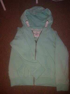 Girls Next Mint Green Zip Hoody Age 8 Years