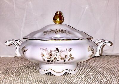 "Mitterteich Bavaria Germany Serving Bowl w/ Lid + Handles ""Charming Barbara"""