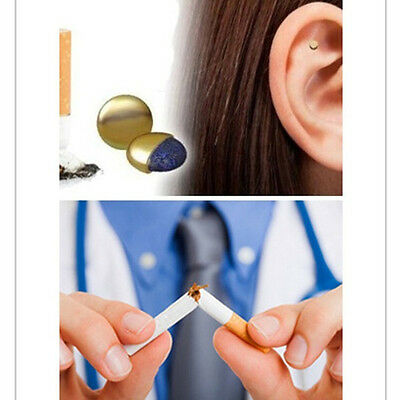 Magnet Auricular Quit Smoking Acupressure Patch No Cigarettes Health Therapy BD