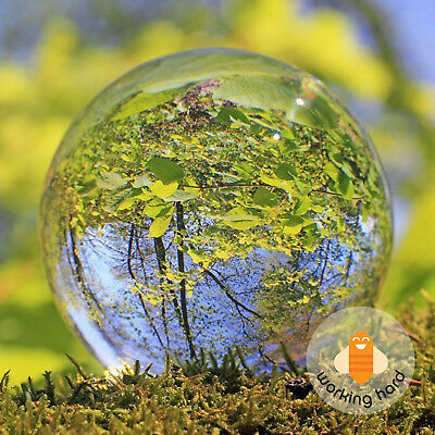 CLEAR CRYSTAL BALL 60MM Photo Lens Home Art Photography Glass Prop Decoration