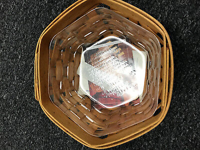 """Longaberger 7"""" Generations Basket With Protector 2001 13757 Nice"""