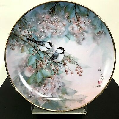 Franklin Mint Heirloom J. Cheng Song of Cherry Blossom Collectors Plate 1992