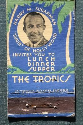1930-40s Era Beverly Hills,California The Tropics Cocktail Lounge matchbook-RARE