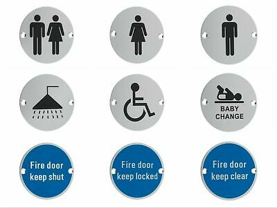 Facilities Door Sign Male, Female & Unisex Toilet, Fire, Disabled, Shower, Baby