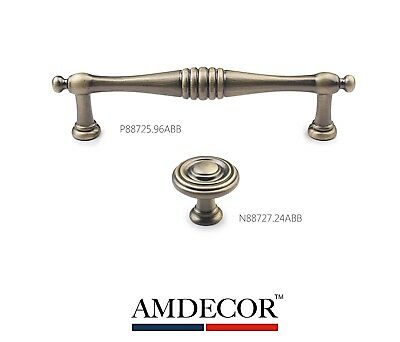Amdecor Vintage Antique Bronze Brushed Cabinet Pull Handle knob Hardware Design