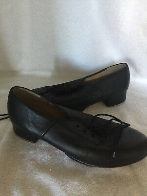 Women's Bloch Black Lace Up Tap Shoes, Size 11 (Runs at least one size smaller)