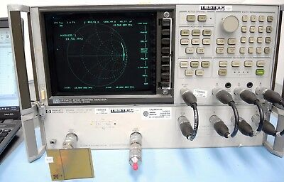 Agilent HP 8753A Network Analyzer With HP 85046A S-Parameter Test Set