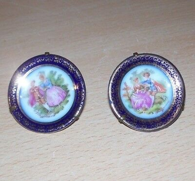 Pair of Limoges France Minature Display Plates