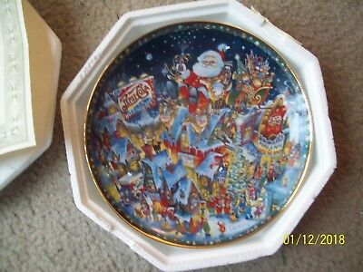 Franklin Mint A Pepsi Cola Christmas Collector Ceramic Plate by Bill Bell
