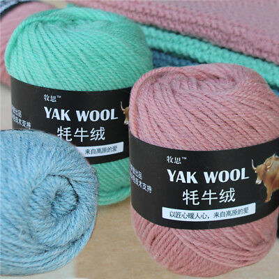 Crochet yak Knitting wool cashmere skeins 100g Super baby strong Chunky yarn Lot