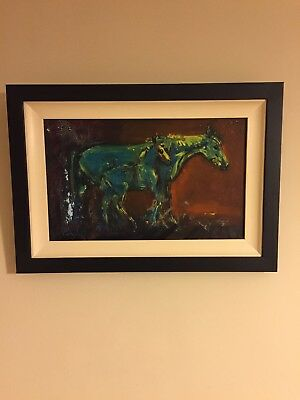 Irish Art Original Oil painting HORSE AND FOAL by CON CAMPBELL