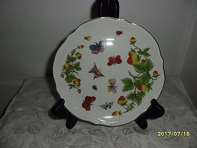"Ardalt Lenwile China Scalloped Plate W  Butterflies Hand Painted 7"" Japan - Vtg"