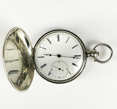 19th CENTURY ANTIQUE ENGLISH HUNTER POCKET WATCH BY DENT OF LONDON, VERY CLEAN