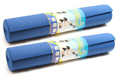 "DLUX 2-PK Yoga Mat Extra Thick Non-slip Exercise Fitness Pilates Pad 68""x24""x1/4"