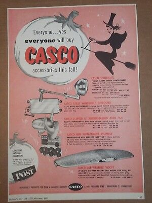 1951 Casco Products Automobile Fall Accessories Ad Witch