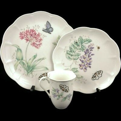 NEW Lenox China Butterfly Meadow Eastern Tailed Blue Dinner & Luncheon Plate Mug