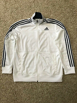 NEW Adidas Warm Up Jacket (size Large, white & navy blue)