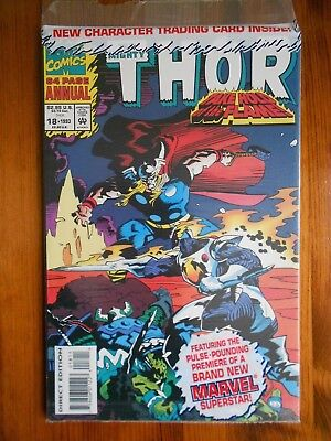 Thor annual #18 (1993), Marvel comic in plastic bag with trading card
