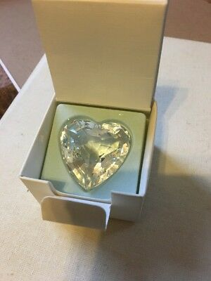Swarovski crystal CLEAR heart shaped paperweight/figurine BRAND NEW IN BOX