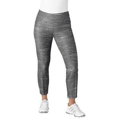 "NEW Adidas Womens Ultimate Adistar Printed 27"" Ankle Pants - Grey - Small BC7376"