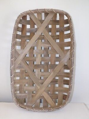 Large Tobacco Basket Rustic Farmhouse Primitive French Decor NEW
