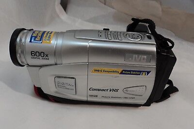 Jvc Compact Vhs Camcorder With Battery Pack 600x Digital Zoom Silver Gr Ax880u 34 99 Picclick