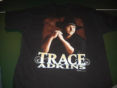 Vintage TRACE ADKINS Tour  concert shirt adult large Country Music