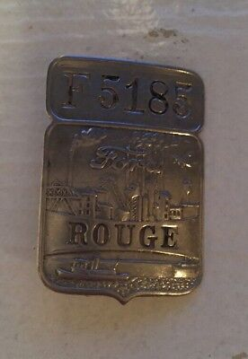 Vintage Ford Rouge Plant Badge F5185