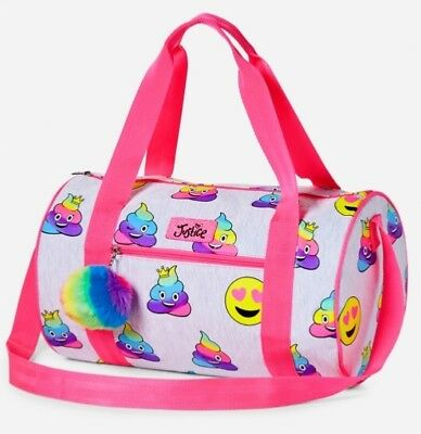 NWT Justice Girl's Colorful Emoji Duffel Bag. Sleepovers/Sports/Travel!