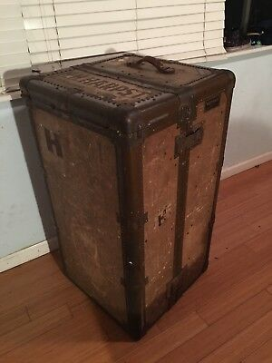 HARTMANN STEAMER TRUNK From Around 1910-1920 Owned By a HH Harpst From Ohio