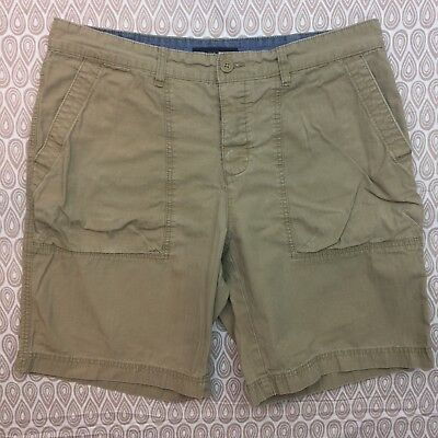 5db414136f Tommy Hilfiger Jeans Co Men s Size 36 Beige Khaki Flat Front Casual Shorts  W23