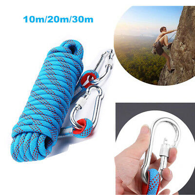 10/20/30M Static Rescue Rope Rock Climbing Rappelling Safety Cord Sling Durable