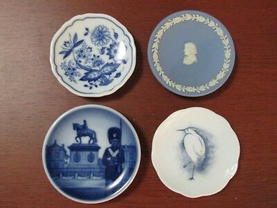 Franklin Mint's Miniature Plates of the Worlds Great Porcelain Houses - Lot of 4