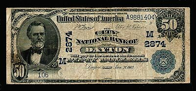 1902 $50 Large Size Grand Rapids National Bank