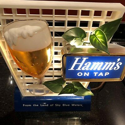 1950's Hamm's on Tap Sign, Beauty, Clean