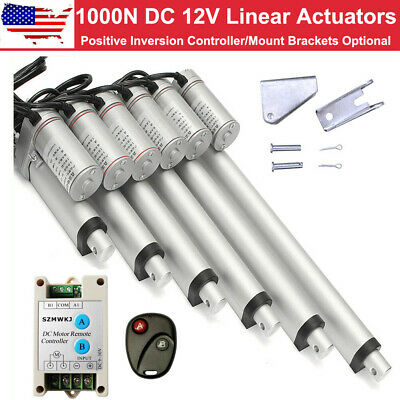 "14mm/s Heavy Duty 8''-18"" Linear Actuator 12V DC Electric Motor Auto Car RV Lift"
