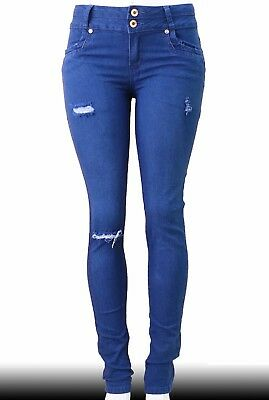 High Waist  Stretch Push-Up Colombian Style Skinny Jeans in  blue YC259